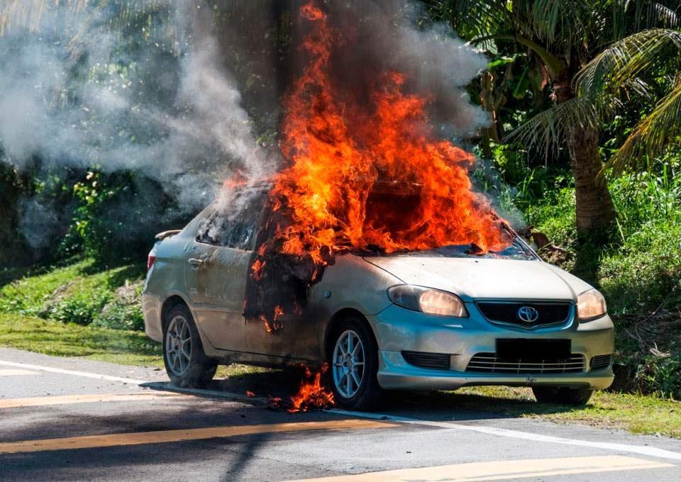 Sustav za gašenje požara u vozilima